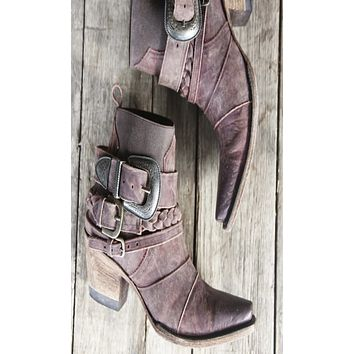 Junk Gypsy Hwy 237 Boots by Lane - Distressed Wine
