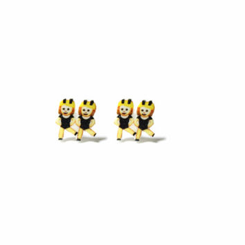 Dancing Twins Emoji Stud Earrings