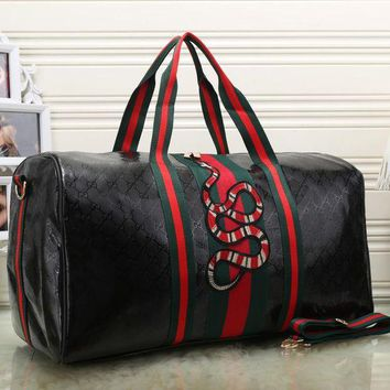 DCCKJL0 Gucci Women Fashion Leather Embroidery Luggage Travel Bags Tote Handbag