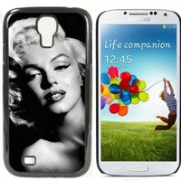 Marilyn-Monroe Hard Plastic and Aluminum Back Case for Samsung Galaxy S4 i9500 With 3 Pieces Screen Protectors
