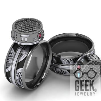 New! and Darker!  BB-9  Spinner Ring- Ladies
