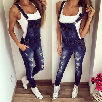DCCK6HW Fashion Denim   Overalls Jumpsuit