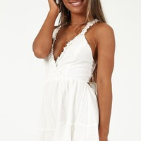Hard To Resist Playsuit in White Produced By SHOWPO