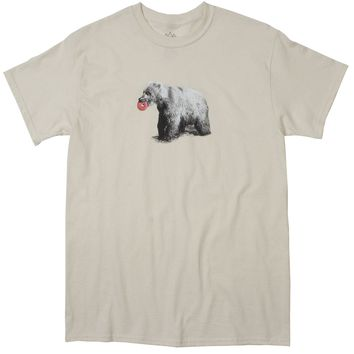 Donut Loving Bear natural graphic tee