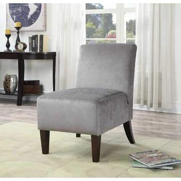Claire Gray Armless Slipper Accent Chair