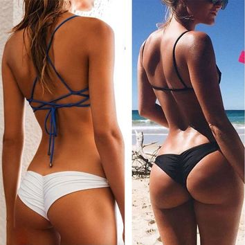 Sexy Women Bikini Brazilian Cheeky Bottom Thong V Swimwear Swimsuit Panties Briefs B2Cshop