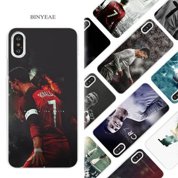 BINYEAE cr7 cristiano ronaldo Hard White Phone Case Cover Coque Shell for iPhone X 6 6S 7 8 Plus 5 5S SE 4 4S 5C