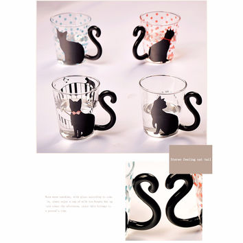 Cute Kitty  Cat   Glass Mug