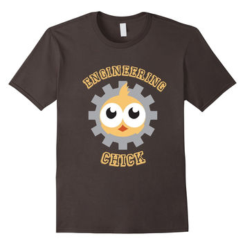 Engineering Chick Girl Power College Funny Cute Pun T-Shirt