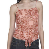 Tie Front Tribal Tank | Shop Tops at Wet Seal