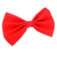 Big Red Hair BOW X-L Bright Costume Hairclip Cosplay Party Barrette