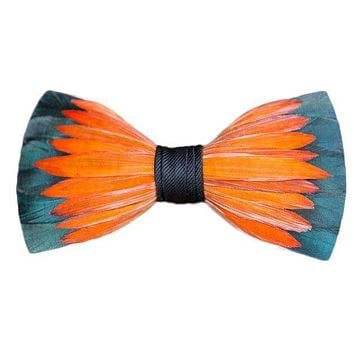 Original Feather Bow Tie in Lotus by Brackish Bow Ties