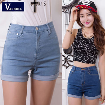 2016 New Fashion women jeans Summer High Waist Stretch Denim Shorts Slim Korean Casual women Jeans Shorts Hot Sale Plus Size