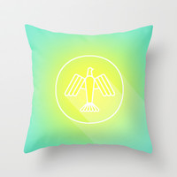 Icon No. 1 Throw Pillow by chobopop