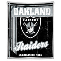 Oakland Raiders NFL Mink Sherpa Throw (50in x 60in)
