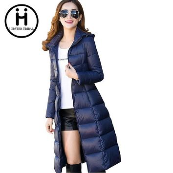 Hipster Tribal Brand Women's Jacket Winter Warm Smooth soft slim Long Parka Camperas Mujer Female Women Parkas Double Face Coat
