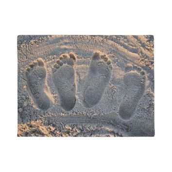Sand Beach Footprints Doormat