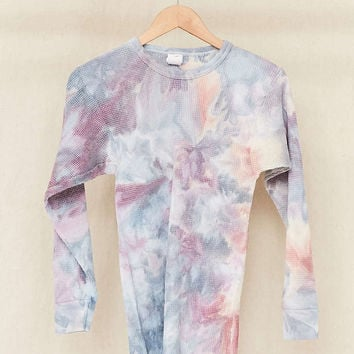 Riverside Tool & Dye X Urban Renewal Vintage Hand Dyed Thermal Top - Urban Outfitters