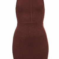 Seamed Bodycon Tunic - Burgundy