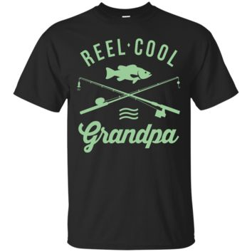 Funny Fishing T-shirt For Retired Grandpa Shirt Reel Cool_Black