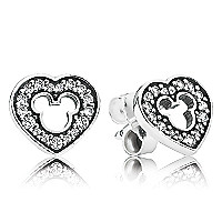 Mickey Mouse Silhouette Earrings by PANDORA