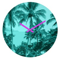 Deb Haugen Aloha Morning Round Clock