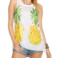 Reflected Pineapples Tank Top