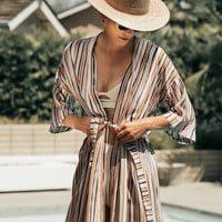 Dusty Rose Stripe Jane Robe