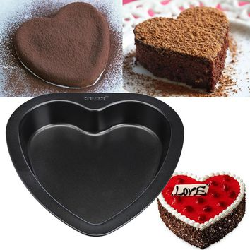7-inch Heart-shaped Cake Mold Baking Tools For Cakes Carbon Steel Non Stick Bakeware Bread pizza Cake Pan kitchen accessories