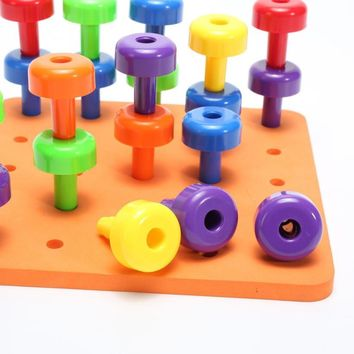 Peg Board Montessori Set - 30 Pieces