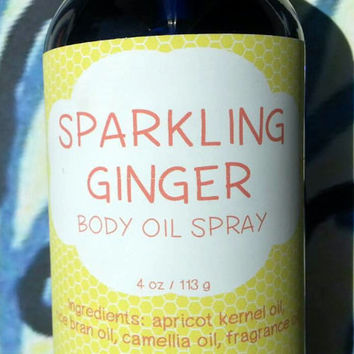 Sparkling Ginger Body Oil Spray ~ Dry Oil Spray ~ Moisturizing Body Oil ~ Spray Oil ~ Body Spray