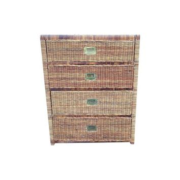 Pre-owned Wicker Campaign Chest