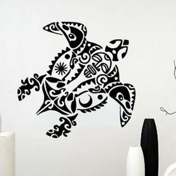 Wall Decal Vinyl Sticker Decals Turtle Tortoise Tortoiseshell Ocean Sea C309