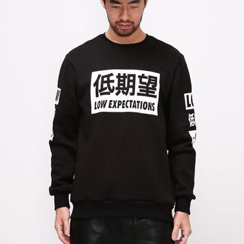 Mens XQUARE 23 Low Expectations Sweatshirt at Fabrixquare