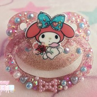My Melody Hearts and Bows Glitter Paci from Scummy Sweets