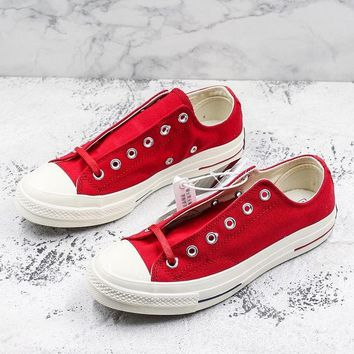Converse Chuck Taylor All Star 1970s Low Top Heritage Red Canvas Sneakers - Best Deal Online
