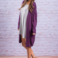 The Anything And Anywhere Cardigan, Purple