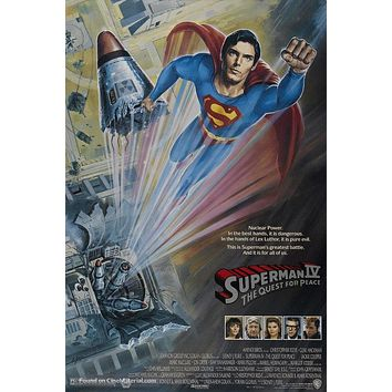 Superman IV: The Quest for Peace Poster//Superman IV: The Quest for Peace Movie Poster//Movie Poster//Poster Reprint