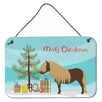 Shetland Pony Horse Christmas Wall or Door Hanging Prints BB9281DS812