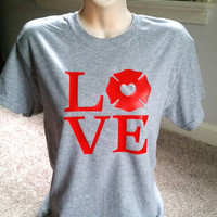 Firefighter Love Shirt, Maltese Cross Shirt