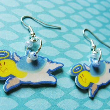 Cute Angel Turtle Hook Earrings