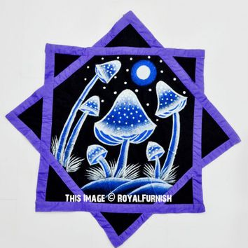 Black  Purple Mushroom Dapo Star Cloth Finger Spinner Game on RoyalFurnish.com