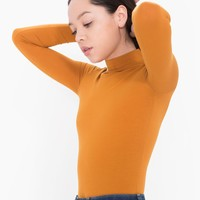 Cotton Spandex Turtleneck Top | American Apparel