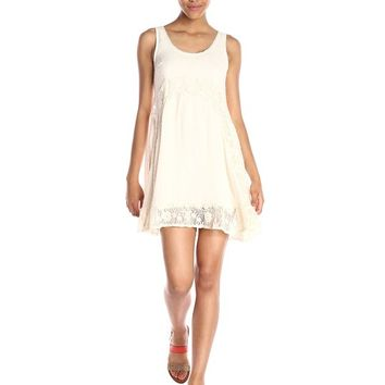 Taylor and Sage Women's Lace Trim Tank Dress