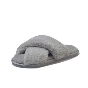 COOTELILI Winter Women Home Slippers with Faux Fur