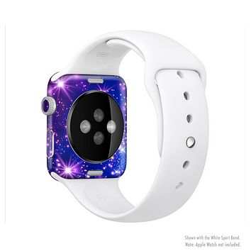 The Glowing Pink & Blue Starry Orbit Full-Body Skin Kit for the Apple Watch