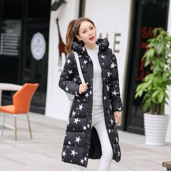 Wadded Cotton Jacket Women New Winter Coat Female Fashion Warm Parkas Hooded Female Down Jacket Casual Coat Plus Size 3XL
