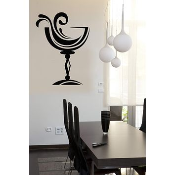 Wall Vinyl Decal Drinking Collection Wine Glass Home Interior Decor (n845)