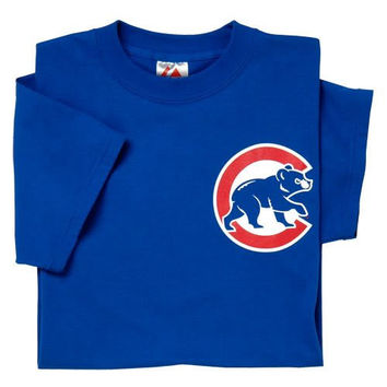 Chicago Cubs (YOUTH SMALL) 100% Cotton Crewneck MLB Officially Licensed Majestic Major League Baseball Replica T-Shirt Jersey