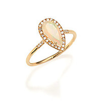 KALAN by Suzanne Kalan - Soleil Opal, Diamond & 14K Yellow Gold Pear Ring - Saks Fifth Avenue Mobile